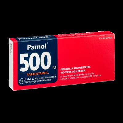 PAMOL  500 mg tabl, kalvopääll 10 fol