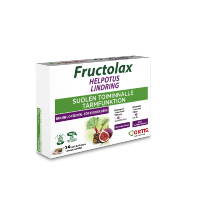 Fructolax Helpotus kuutio hedelmä ja kuitu 24 kpl