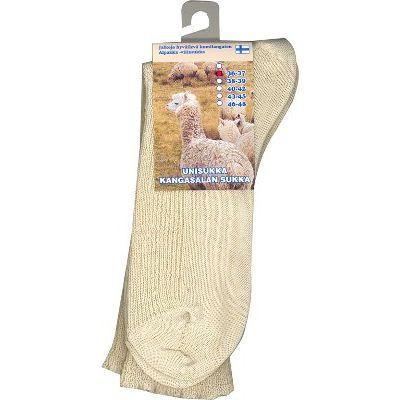 Alpakka unisukka luonnonvärinen 40-42 1 pari