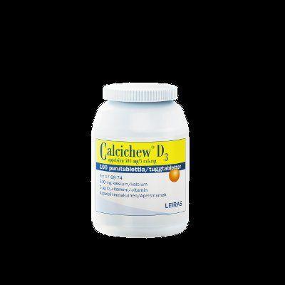 CALCICHEW D3 APPELSIINI 500 mg/5 mikrog purutabl 100 kpl
