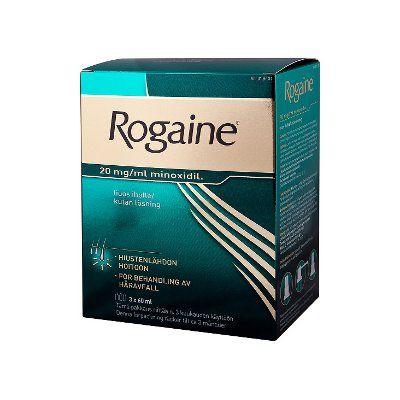ROGAINE 20 mg/ml liuos iholle (2 annostelijaa)3x60 ml