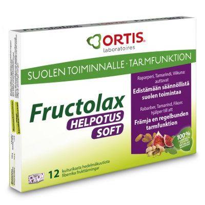 Fructolax Helpotus kuutio hedelmä ja kuitu 12 kpl