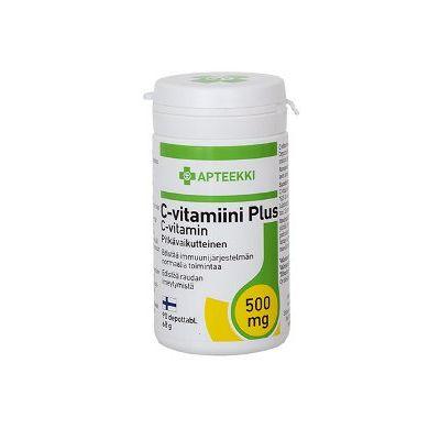 APTEEKKI C FORCE Long 500 mg 90 depottabl