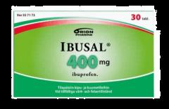 IBUSAL 400 mg tabl, kalvopääll 30 fol
