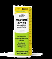MEDITUS 200 mg poretabl 20 kpl