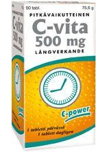C-Vita 500 mg pitkävaikutteinen 90 tabl
