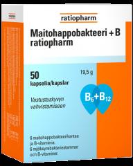 MAITOHAPPOBAKTEERI + B RATIOPHARM 50 KAPS