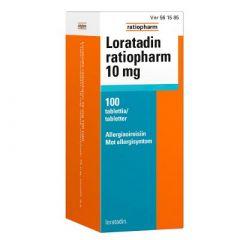 LORATADIN RATIOPHARM 10 mg tabl 100 fol
