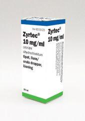 ZYRTEC 10 mg/ml tipat, liuos 20 ml